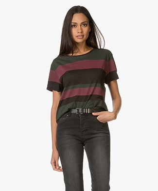 Anine Bing Striped T-Shirt - Multi Colored