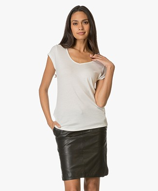 Repeat Silk and Cashmere T-shirt - Cream
