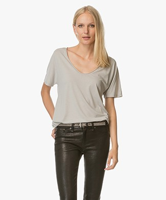 Filippa K Roll Edge Scoop Neck Tee - Seafoam