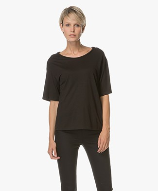 Theory Eligia Modal Mix T-shirt - Black