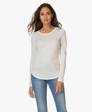 Closed Vintage Melange Long Sleeve T-shirt - Blanched Almond