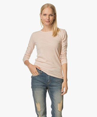 Majestic Cashmere Blend Long Sleeve - Soft Pink