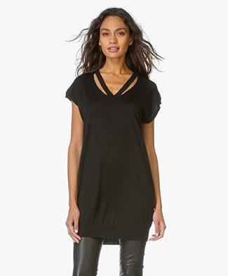 Alexander Wang Sleeveless Merino Wool Tunic Dress