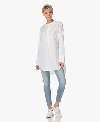 Theory Cotton Tunic Maraseille - White