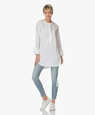 Theory Cotton Tunic Maraseille - White