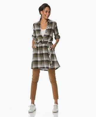 Josephine & Co Alard Checkered Tunic Dress - Army