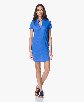 Majestic Linen Polo Tunic Dress