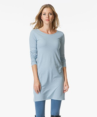 Majestic Tunic Dress with Wide Round Neck