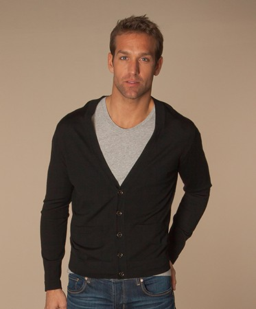 Men Outlet - Filippa K Fine Merino Cardigan - Black