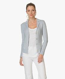 Belluna Les Deux Knitted Blazer - Light Blue/Ecru