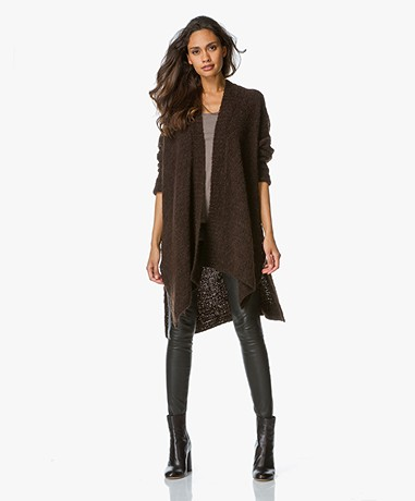 No Man's Land Grofgebreid Ponchovest - Mocha