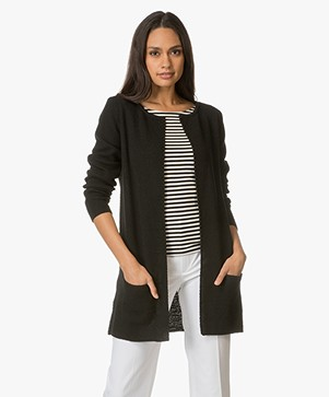 Sibin/Linnebjerg Mary Short Cardigan in Black