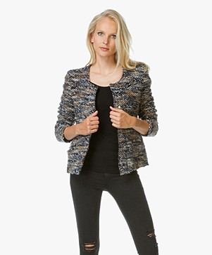 IRO Molly Bouclé-Tweed Jacket - Multi Grey