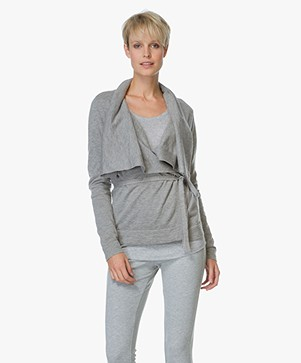 BOSS Orange Ivettyl Wrap Cardigan - Medium Grey