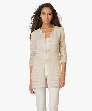 Belluna Toto Medium Gebreid Vest - Lichtbeige