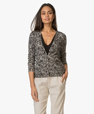 Indi & Cold Linen Blend Cardigan - Black