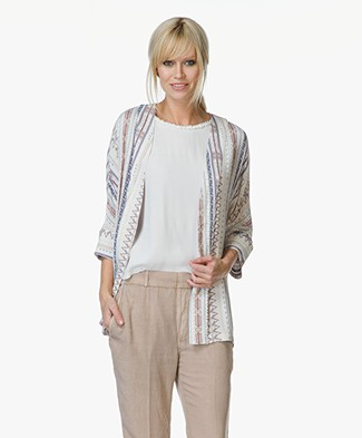 MKT Studio Vimono Cardigan with Print - Craie/Multicolored