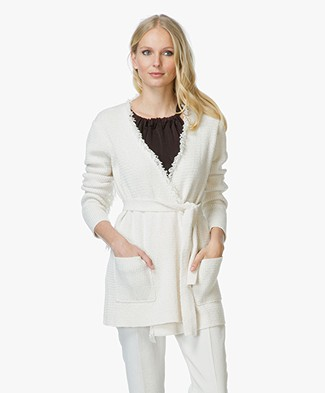 By Malene Birger Agnetas Gebreid Vest - Soft White