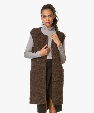 no man's land Knitted Gilet - Pecan