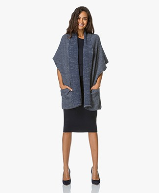 Paul & Joe Sister Pistolet Cardigan - Denim/Wit