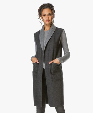 Alexander Wang Reversible Open Cardigan - Charcoal