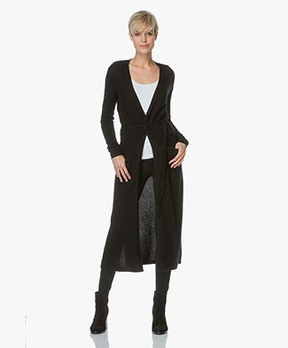 Theory Maxi Cardigan Torina in Cashmere - Black