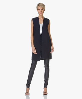 Drykorn Sleeveless Knitted Cardigan Aletta - Dark Navy