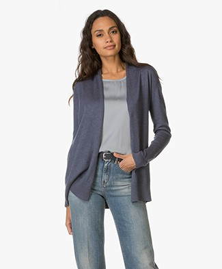 Belluna Suite Knitted Open Cardigan - Jeans
