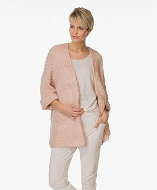 BY-BAR Breeze Chunky Knit Cardigan - Pink