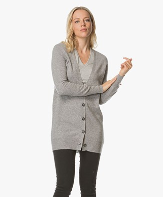 Repeat Cashmere Cardigan - Light Grey