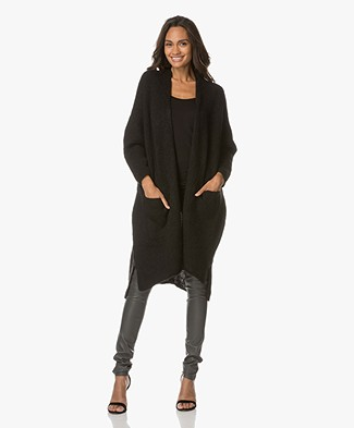 American Vintage Oversized Cardigan Vacaville - Black