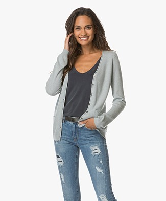 Repeat Cashmere Classic Cardigan - Smoke
